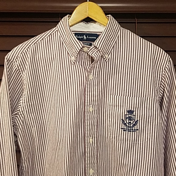 71654ec3355 Ralph Lauren Polo Athletic Club NYC Crest Shirt, M.  M 5b84c1b095199630d42028c7